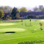Vue depuis le Green des Impressionnistes sur le golf de l'Hermitage à Ennery